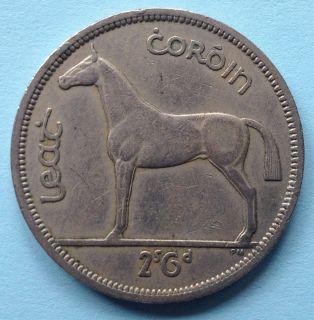 Ireland Irish Half Crown Coin 1964