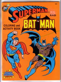 SUPERMAN AND BATMAN, SUPER POWERS COLORING AND ACTIVITY BOOK, UNUSED