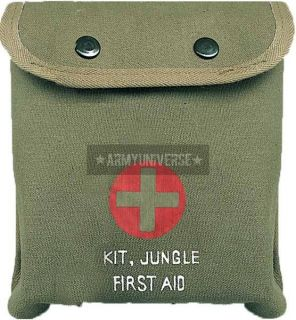 Olive Drab M 1 Jungle First Aid Red Cross Pouch (Item # 8326)