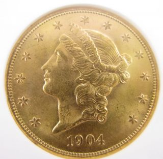 1904 s NGC MS 63 Gold Double Eagle $20