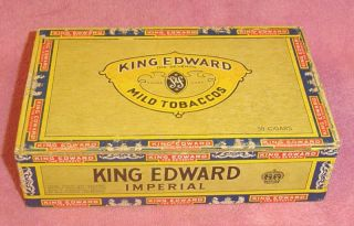 Vintage King Edward The Seventh Swisher Son Cigar Box