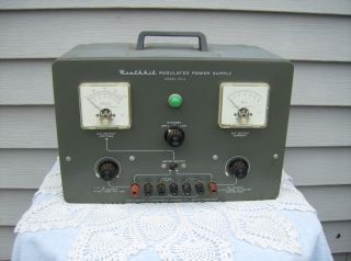 Vintage HEATHKIT REGULATED POWER SUPPLY PS 4 ~ Powers On ~ Untested
