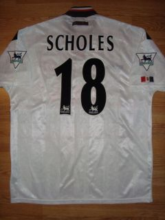 MANCHESTER UNITED MATCH WORN SHIRT SCHOLES 18 ENGLAND MAN UNITED