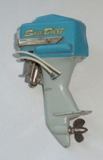 this is an old sea dart toy electric outboard motor the motor is