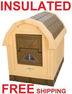 Outdoor Insulated Dog House Pet Palace Easy Pass Door Plastic
