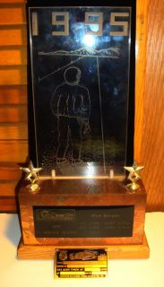 Real Scta Land Speed Race Trophy El Mirage Motorcycle Hot Rod Timing