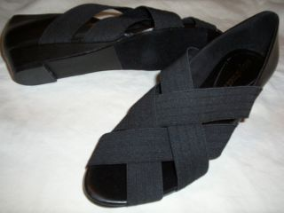 Easy Street Natalie Elastic Cross Strap Sandals Womens 8 M Medium