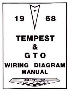 1968 Pontiac LeMans GTO Tempest Electrical Wiring Diagrams Schematics
