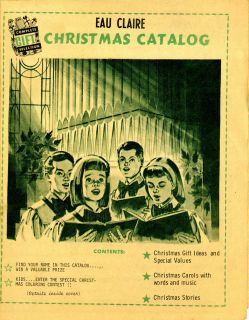 1966 Eau Claire Wisconsin Christmas Catalog Advertising booklet