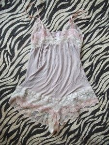 Eberjey Nadine Teddy Size M Gorgeous Light Purple Pink Lace Bamboo