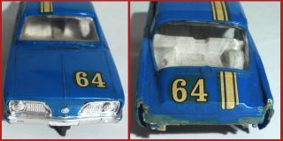 Vintage 1966 STROMBECKER PLYMOUTH BARRACUDA SLOT CAR   RICHARD PETTY 1