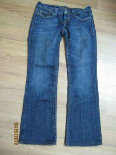 MEK Eldora Denim Blue Jeans Detailed Flap Pockets Distressed Womens Sz