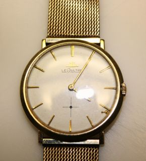 Vintage Jaeger LeCoultre Watch 14k Gold 1950s Era