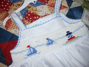 Little Threads Maria Elena Smocked Sailboat Swing Top Capri Set Girls