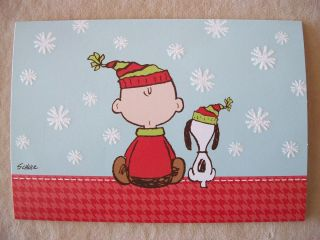 Peanuts Charlie Brown Snoopy Christmas Card by Hallmark 4 1 2 x 6 1 2