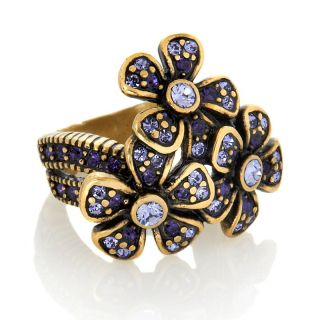 Heidi Daus Polished Posey Crystal Accented Flower Ring at