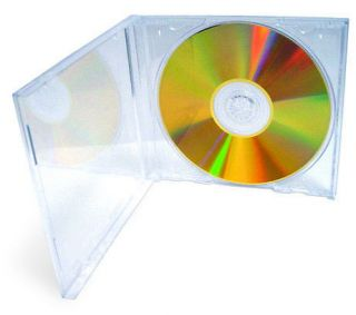 200 Single Crystal Clear CD DVD Standard Jewel Case Box