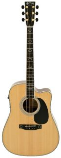 Martin DC Aura Cutaway Acoustic Electric Guitar with Hard Case