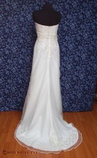 Alfred Angelo 1611 Lt Ivory Satin Tulle Beaded Wedding Dress 2