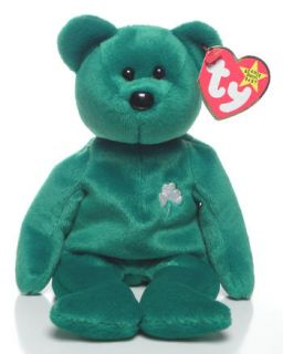 TY ERIN St. Patricks Day Irish Teddy Bear Beanie Baby ~ MINT TAGS