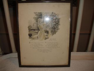 Antique Edgar Guest The Buzza Co Framed Art of The Poem Home 1932