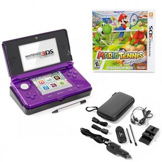 3DS 3D Game System with Mario Tennis Game and 13 piece Accessory Kit