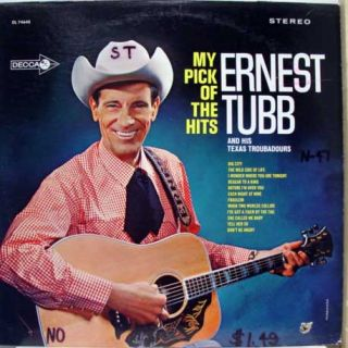 ERNEST TUBB my pick of the hits LP VG+ DL 74640 Vinyl Record