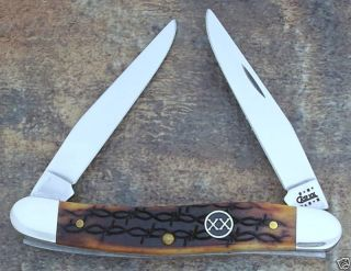 Case XX 2001 XX Shield Barbwire Bone Muskrat Knife