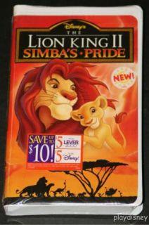 Walt Disneys   The Lion King 2 II Simbas Pride VHS NEW SEALED