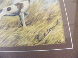Wood Print English Pointer Flushing A Duck 18x16 Hunting Dog