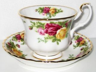 Old Country Roses Teacup and Saucer Tea Cup Set Free Shipping
