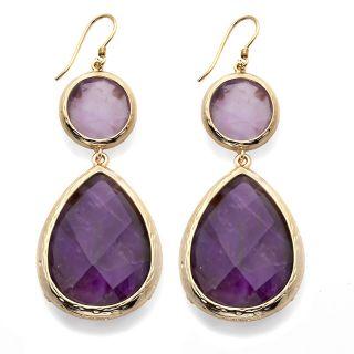Jewelry Earrings Drop CL by Design 14K Gold Plated Gemstone Drop