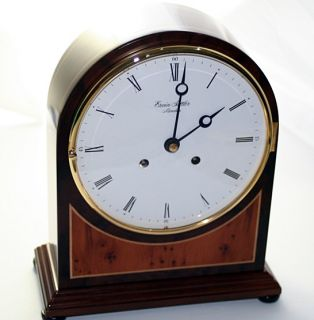 German ERWIN SATTLER 1119 Walnut Table Clock Brand NEW   current