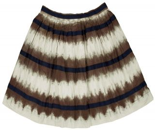 NEW $99 EDME & ESYLLTE Anthropologie Tie & Dye Print Lace Cotton Skirt