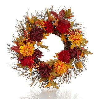 Mums & Berries Battery Operated 20 LED Wreath