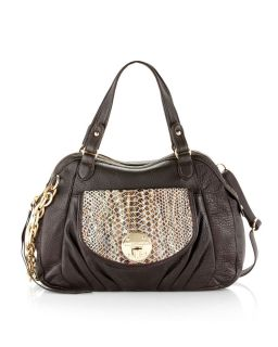 Elliott Lucca Una Satchel Chocolate