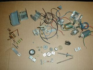 Old used Slot or Model Car Motors Gears Drag race? Nascar? Parts Junk