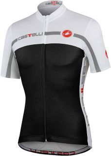 CASTELLI Velocissimo Equipe CYCLING JERSEY Black White LARGE