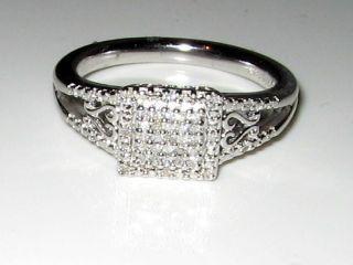PRINCESS DIAMOND HEART ENGAGEMENT RING