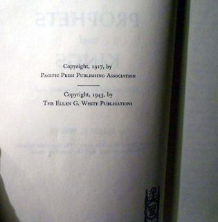 Vintage Ellen G White Book 1943 Prophets Kings Pacific Press Pub SC VG