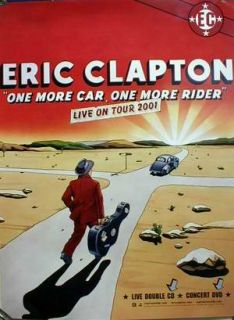 Eric Clapton Live on Tour 2001 Promo Poster Flawless