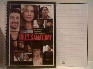 Greys Anatomy Promotional Notebooks Patrick Dempsey Eric Dane