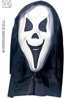 Eva Hooded Ghost Scream Face Mask Halloween Fancy Dress