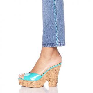 Diane Gilman Stretch Denim Skinny Jeans with Rhinestud Stripe
