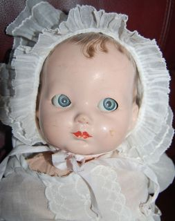 Effanbee Antique Composition Doll with Sleepy Eyes Original Bracelet