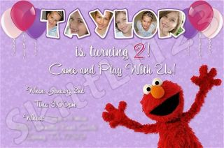 Custom Personalized Elmo Invitations