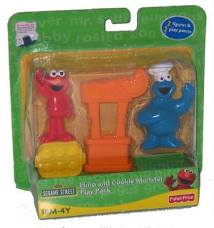Sesame Street Elmo and Cookie Monster Figure Play Pack Toy Set