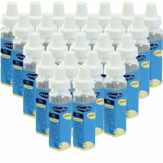 Evenflo 8 oz Glass Bottle 24 Pack Feeding Baby Baby Bottle Clear