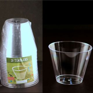 160 PC 9oz Clear Plastic Tumblers Cups Event Occassion Wedding