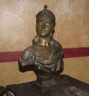 Bronze Orient Bust French Sculpture Emmanuel Villanis Nouveau
